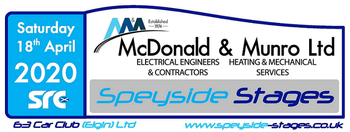 The McDonald and Munro Speyside Stages Logo